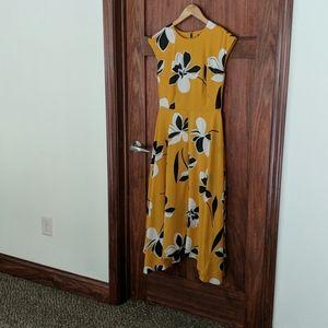 Midi-Length Yellow dress- Who What Wear